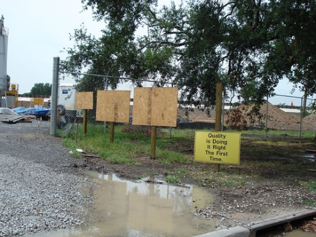 Sign at Corps of Engineers 17th Street Canal Site